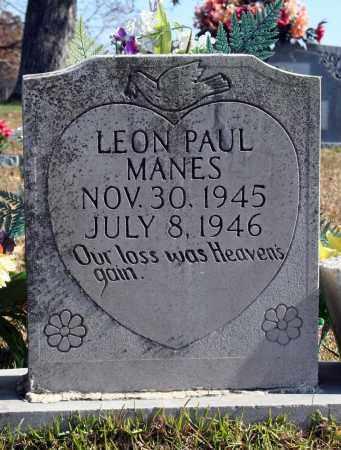 MANES, LEON PAUL - Searcy County, Arkansas | LEON PAUL MANES - Arkansas Gravestone Photos