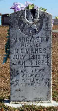 MANES, MARGARET V. - Searcy County, Arkansas | MARGARET V. MANES - Arkansas Gravestone Photos