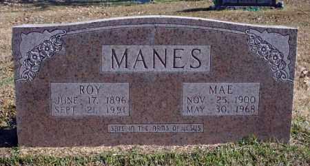 MANES, MAE - Searcy County, Arkansas | MAE MANES - Arkansas Gravestone Photos