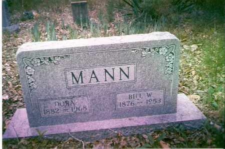 MANN, BILL W. - Searcy County, Arkansas | BILL W. MANN - Arkansas Gravestone Photos