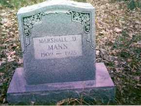 MANN, MARSHALL - Searcy County, Arkansas   MARSHALL MANN - Arkansas Gravestone Photos