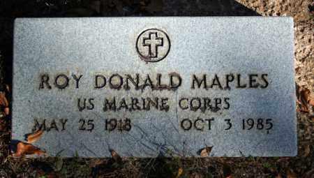 MAPLES (VETERAN), ROY DONALD - Searcy County, Arkansas   ROY DONALD MAPLES (VETERAN) - Arkansas Gravestone Photos