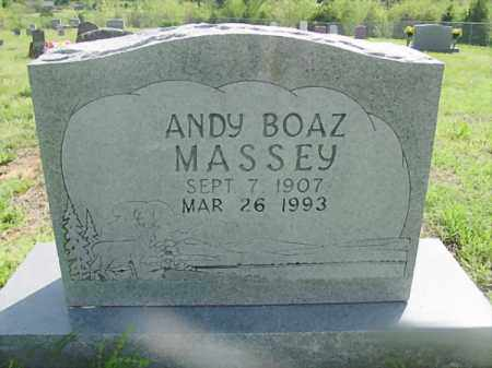 MASSEY, ANDREW BOAZ - Searcy County, Arkansas | ANDREW BOAZ MASSEY - Arkansas Gravestone Photos