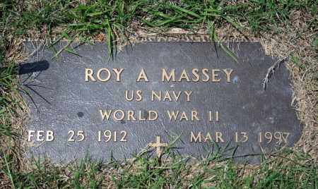 MASSEY (VETERAN WWII), ROY A - Searcy County, Arkansas | ROY A MASSEY (VETERAN WWII) - Arkansas Gravestone Photos