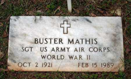MATHIS (VETERAN WWII), BUSTER - Searcy County, Arkansas | BUSTER MATHIS (VETERAN WWII) - Arkansas Gravestone Photos