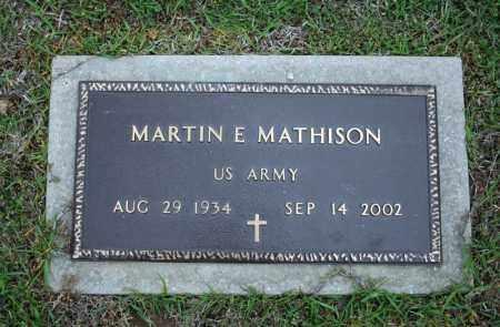 MATHISON (VETERAN), MARTIN E - Searcy County, Arkansas | MARTIN E MATHISON (VETERAN) - Arkansas Gravestone Photos