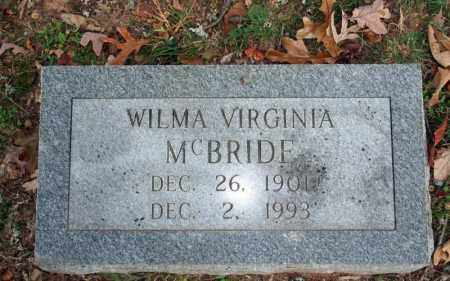 MCBRIDE, WILMA VIRGINIA - Searcy County, Arkansas | WILMA VIRGINIA MCBRIDE - Arkansas Gravestone Photos