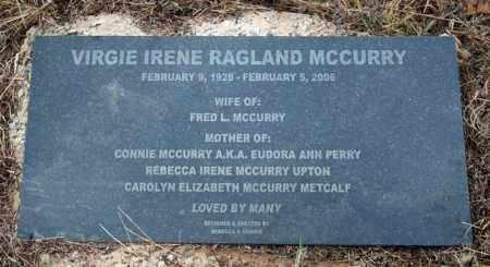 MCCURRY, VIRGIE IRENE - Searcy County, Arkansas | VIRGIE IRENE MCCURRY - Arkansas Gravestone Photos