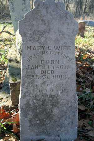 MCCUTCHEN, MARY L. - Searcy County, Arkansas   MARY L. MCCUTCHEN - Arkansas Gravestone Photos