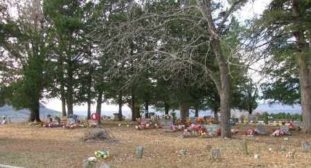 *MCDANIEL CEMETERY OVERVIEW,  - Searcy County, Arkansas |  *MCDANIEL CEMETERY OVERVIEW - Arkansas Gravestone Photos