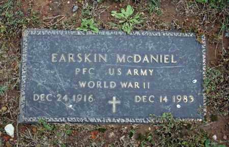 MCDANIEL (VETERAN WWII), EARSKIN - Searcy County, Arkansas   EARSKIN MCDANIEL (VETERAN WWII) - Arkansas Gravestone Photos