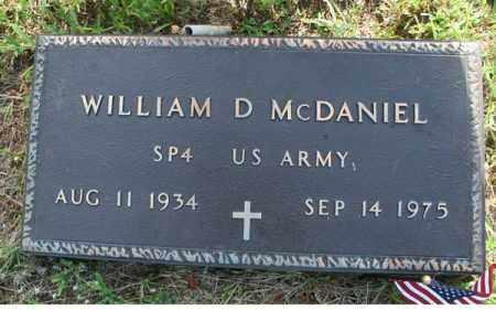 MCDANIEL  (VETERAN), WILLIAM D - Searcy County, Arkansas | WILLIAM D MCDANIEL  (VETERAN) - Arkansas Gravestone Photos