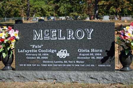 """MCELROY, LAFAYETTE """"FATE"""" COOLIDGE - Searcy County, Arkansas 