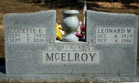 MCELROY, COZETTE E. - Searcy County, Arkansas | COZETTE E. MCELROY - Arkansas Gravestone Photos