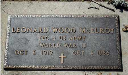 MCELROY (VETERAN WWII), LEONARD WOOD - Searcy County, Arkansas   LEONARD WOOD MCELROY (VETERAN WWII) - Arkansas Gravestone Photos