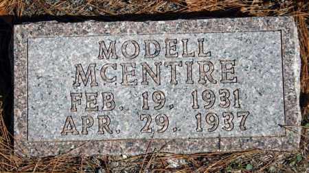 MCENTIRE, MODELL - Searcy County, Arkansas   MODELL MCENTIRE - Arkansas Gravestone Photos