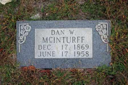 MCINTURFF, DAN W. - Searcy County, Arkansas | DAN W. MCINTURFF - Arkansas Gravestone Photos