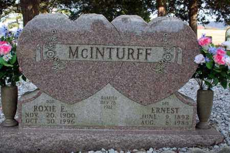 MASON MCINTURFF, ROXIE E. - Searcy County, Arkansas | ROXIE E. MASON MCINTURFF - Arkansas Gravestone Photos