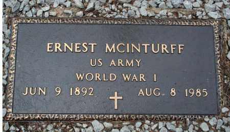 MCINTURFF (VETERAN WWI), ERNEST - Searcy County, Arkansas | ERNEST MCINTURFF (VETERAN WWI) - Arkansas Gravestone Photos