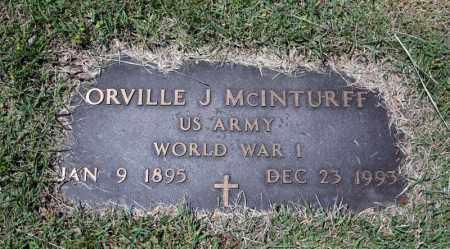 MCINTURFF (VETERAN WWI), ORVILLE J - Searcy County, Arkansas | ORVILLE J MCINTURFF (VETERAN WWI) - Arkansas Gravestone Photos