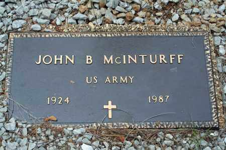MCINTURFF (VETERAN WWII), JOHN B - Searcy County, Arkansas   JOHN B MCINTURFF (VETERAN WWII) - Arkansas Gravestone Photos