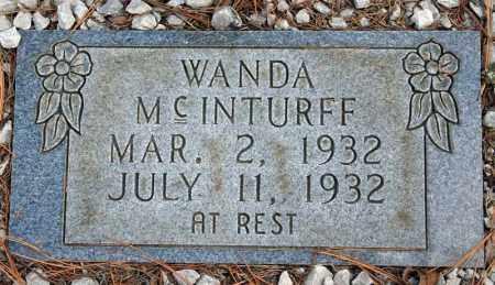 MCINTURFF, WANDA - Searcy County, Arkansas   WANDA MCINTURFF - Arkansas Gravestone Photos