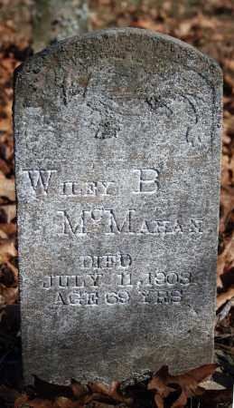 MCMAHAN, WILEY B. - Searcy County, Arkansas | WILEY B. MCMAHAN - Arkansas Gravestone Photos
