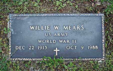 MEARS (VETERAN WWII), WILLIE W - Searcy County, Arkansas   WILLIE W MEARS (VETERAN WWII) - Arkansas Gravestone Photos