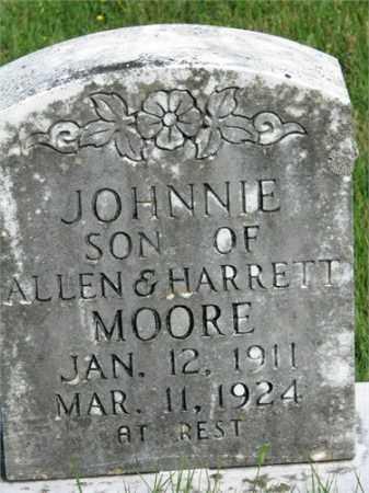 MOORE, JOHNNIE - Searcy County, Arkansas   JOHNNIE MOORE - Arkansas Gravestone Photos