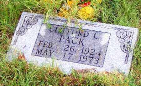 PACK, CLIFFORD L. - Searcy County, Arkansas | CLIFFORD L. PACK - Arkansas Gravestone Photos
