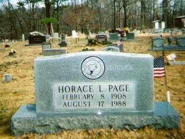 PAGE, HORACE L. - Searcy County, Arkansas | HORACE L. PAGE - Arkansas Gravestone Photos