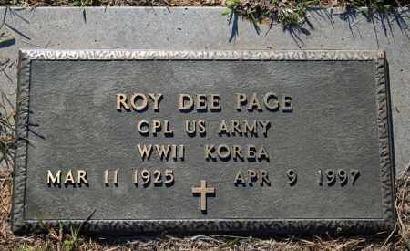 PAGE (VETERAN 2 WARS), ROY DEE - Searcy County, Arkansas | ROY DEE PAGE (VETERAN 2 WARS) - Arkansas Gravestone Photos