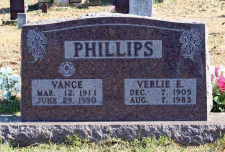 PHILLIPS, VERLIE E. - Searcy County, Arkansas | VERLIE E. PHILLIPS - Arkansas Gravestone Photos