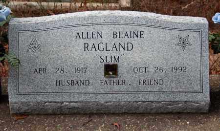 RAGLAND, ALLEN BLAINE - Searcy County, Arkansas   ALLEN BLAINE RAGLAND - Arkansas Gravestone Photos