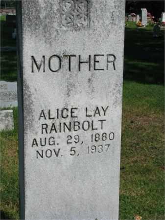 RAINBOLT, ALICE LAY - Searcy County, Arkansas | ALICE LAY RAINBOLT - Arkansas Gravestone Photos