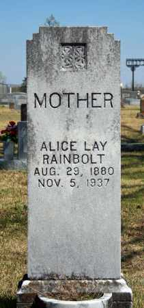 LAY RAINBOLT, ALICE - Searcy County, Arkansas | ALICE LAY RAINBOLT - Arkansas Gravestone Photos