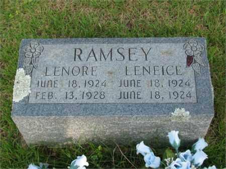 RAMSEY, LENEICE - Searcy County, Arkansas | LENEICE RAMSEY - Arkansas Gravestone Photos