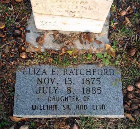 RATCHFORD, ELIZA E. 2 - Searcy County, Arkansas   ELIZA E. 2 RATCHFORD - Arkansas Gravestone Photos
