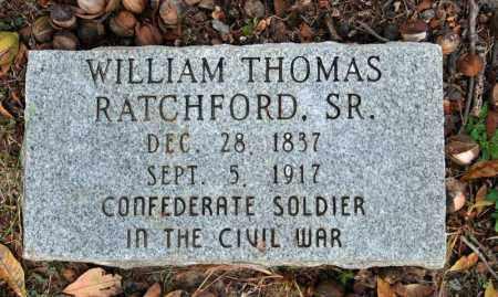 RATCHFORD, SR.  (VETERAN CSA), WILLIAM THOMAS - Searcy County, Arkansas   WILLIAM THOMAS RATCHFORD, SR.  (VETERAN CSA) - Arkansas Gravestone Photos