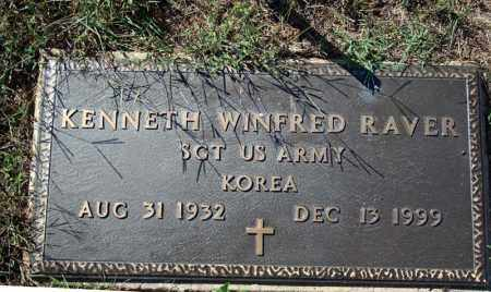 RAVER (VETERAN KOREA), KENNETH WINFRED - Searcy County, Arkansas | KENNETH WINFRED RAVER (VETERAN KOREA) - Arkansas Gravestone Photos