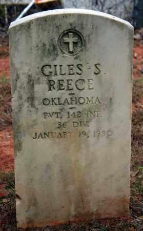 REECE (VETERAN), GILES S - Searcy County, Arkansas | GILES S REECE (VETERAN) - Arkansas Gravestone Photos