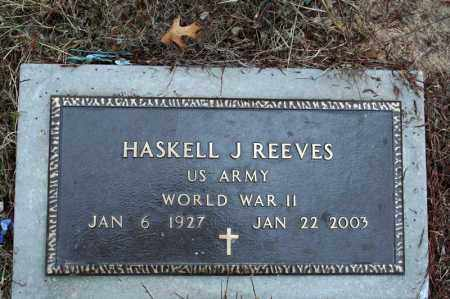 REEVES (VETERAN WWII), HASKELL J - Searcy County, Arkansas | HASKELL J REEVES (VETERAN WWII) - Arkansas Gravestone Photos