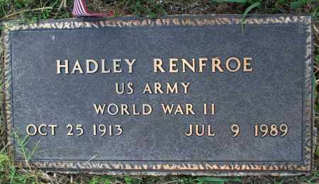 RENFROE  (VETERAN WWII), HADLEY - Searcy County, Arkansas | HADLEY RENFROE  (VETERAN WWII) - Arkansas Gravestone Photos