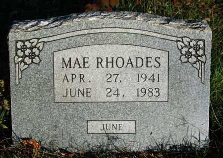 RHOADES, MAE - Searcy County, Arkansas | MAE RHOADES - Arkansas Gravestone Photos