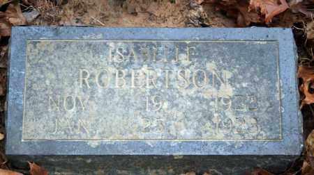 ROBERTSON, ISABELLE - Searcy County, Arkansas | ISABELLE ROBERTSON - Arkansas Gravestone Photos