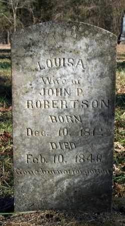 ROBERTSON, LOUISA - Searcy County, Arkansas   LOUISA ROBERTSON - Arkansas Gravestone Photos