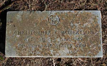 ROBERTSON (VETERAN CSA), CHRISTOPHER  C - Searcy County, Arkansas | CHRISTOPHER  C ROBERTSON (VETERAN CSA) - Arkansas Gravestone Photos