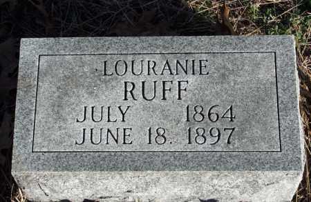 RUFF, LOURANIE - Searcy County, Arkansas | LOURANIE RUFF - Arkansas Gravestone Photos