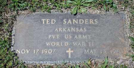 SANDERS (VETERAN WWII), TED - Searcy County, Arkansas | TED SANDERS (VETERAN WWII) - Arkansas Gravestone Photos