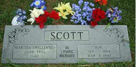 WILLIAMS SCOTT, MARTHA - Searcy County, Arkansas | MARTHA WILLIAMS SCOTT - Arkansas Gravestone Photos